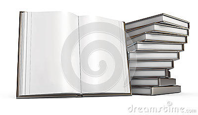 Open book. White background