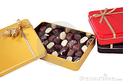 Open box of chocolates
