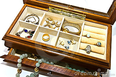 Open Box With Jewelry