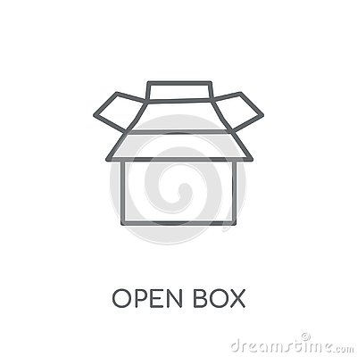 Open box linear icon. Modern outline Open box logo concept on wh Vector Illustration
