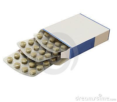 Open box of tablets