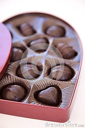 Open box of valentine s day chocolates