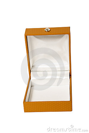 Open brown box for jewelry