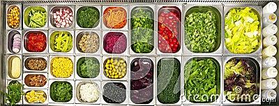 Open buffet salad bar