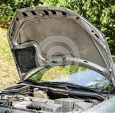 Open car hood