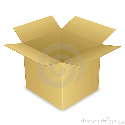 Open Cardboard Box EPS