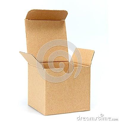 Open cardboard empty box