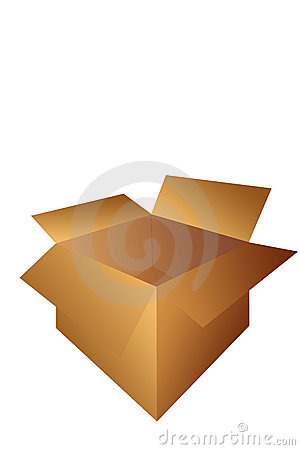 Open Cardboard Shipping Box Illustration