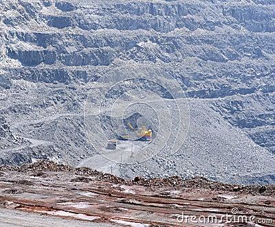 Open-cast mine extracting iron ore