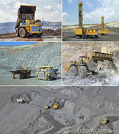 Open cast mining of iron ore