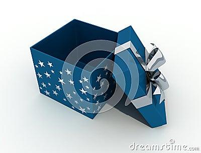 Open christmas box