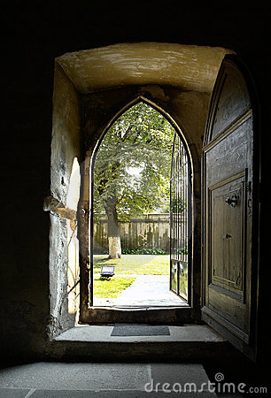 Free Open Church Door Stock Image - 2822591