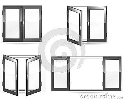 Open and close black windows
