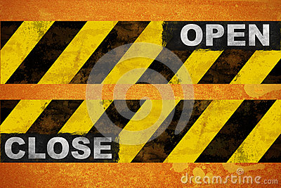 Open close sign