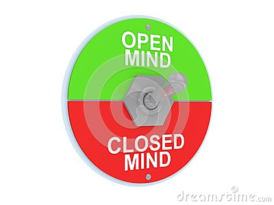 Open and closed mind switch