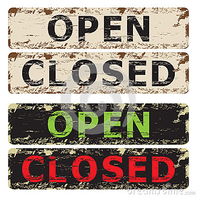 Open and Closed sign.