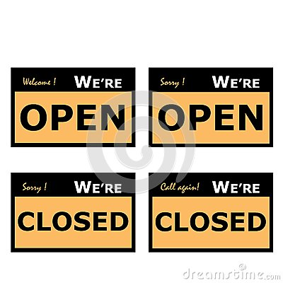 Open and Closed Signage
