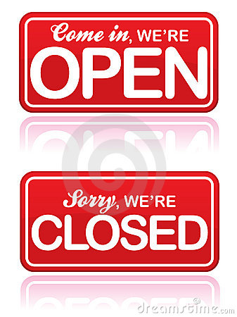 Open And Closed Signs Eps Stock Photography Image 15731572