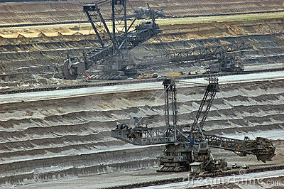 Open coast coal mine excavators