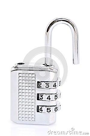 Open combination padlock