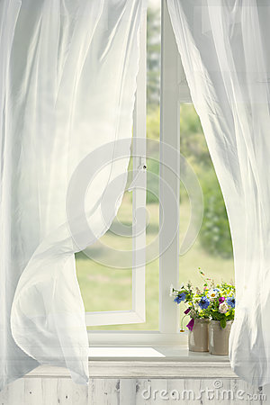 Free Open Country Window Royalty Free Stock Photo - 94323265