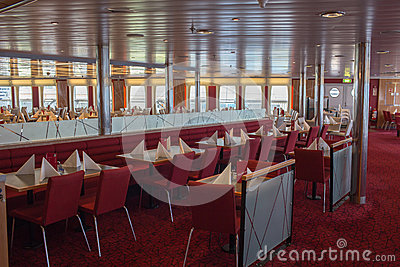 Open day on the ferry Stena Spirit. Editorial Stock Photo