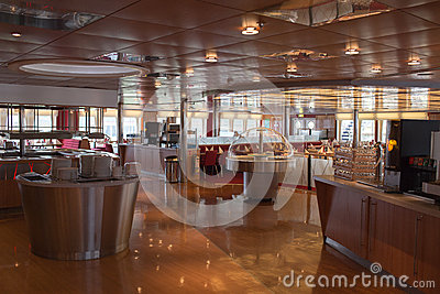 Open day on the ferry Stena Spirit. Editorial Photography