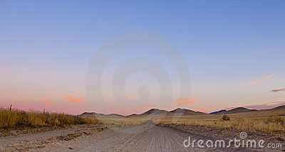 Open Desert Road