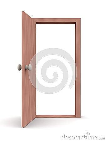 Open Door - Cartoon Style 1 Royalty Free Stock Photography - Image ...