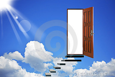 Open door in heavens