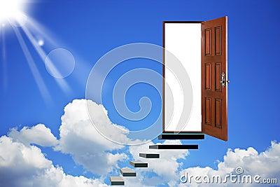 Open door in heavens