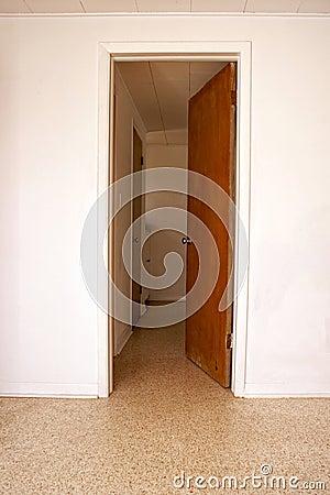 Open door leading to another room