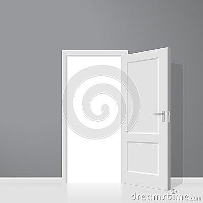 Open door. Realistic vector illustration Vector Illustration