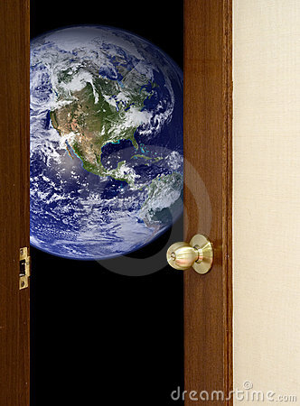 Free Open Door To The World Stock Photography - 3546622