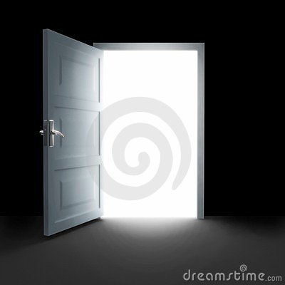 Free Open Door To White Light Stock Photo - 13610200
