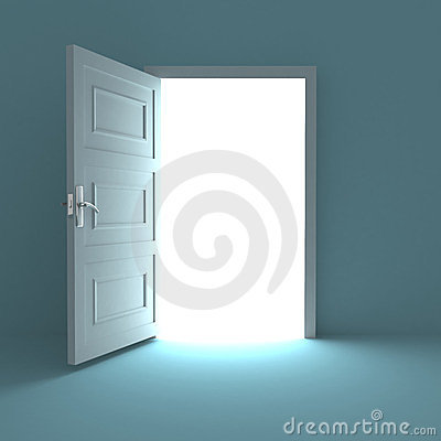 Free Open Door To White Light Royalty Free Stock Photography - 23837717