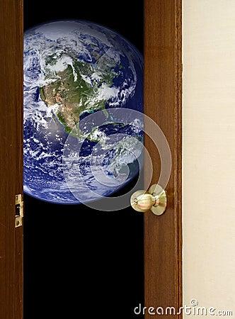 Open door to the world