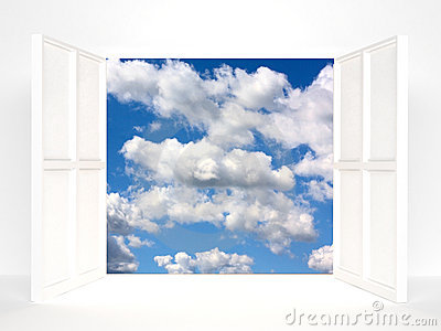 Open doors and sky
