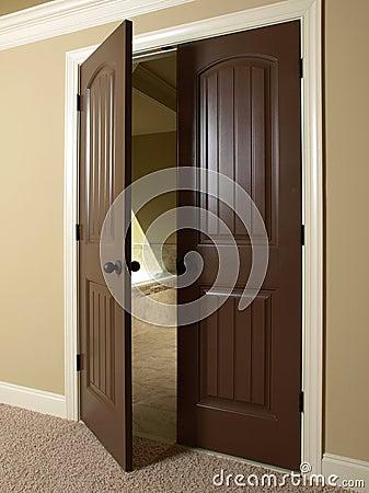 Free Open Double Door To Bathroom Stock Photos - 6769283