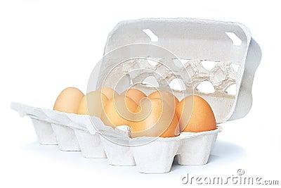 Open eggbox isolated