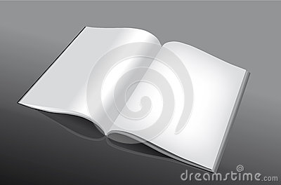 Open and empty book