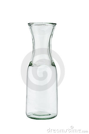 Free Open Empty Glass Jug Stock Images - 12949004