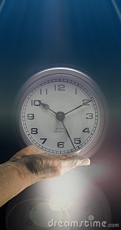 Open Face clock and time