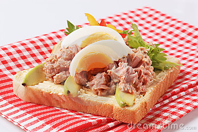 Open Faced Tuna Sandwich With Avocado Recipe — Dishmaps