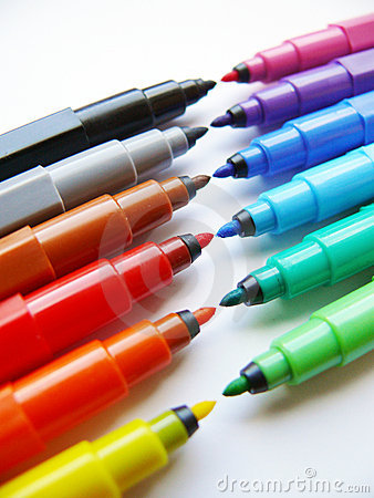 Free Open Felt-tip Pens (markers) Stock Photos - 6018003