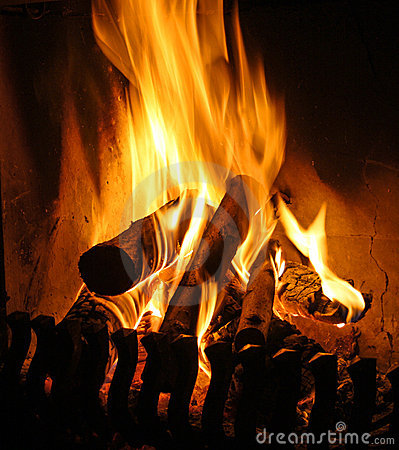 Free Open Fire Place Royalty Free Stock Images - 12042639