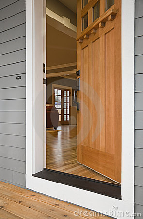 Open Front Door of a Home