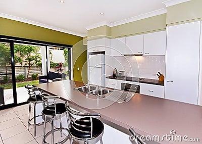 Open Galley-Style Kitchen