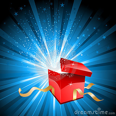 Free Open Gift Box Royalty Free Stock Photo - 17380355