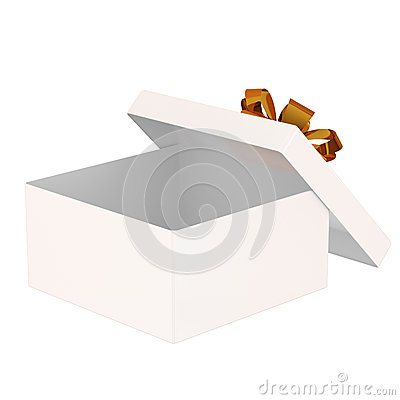 Open gift box. Isolated on a white background